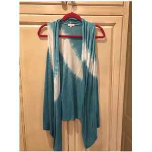 MATTY M Blue/White Tie Dye Vest